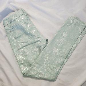 Wallflower Skinny Matalic Print Jeans
